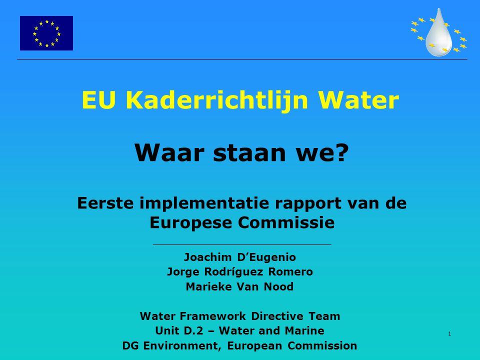 EU Kaderrichtlijn Water