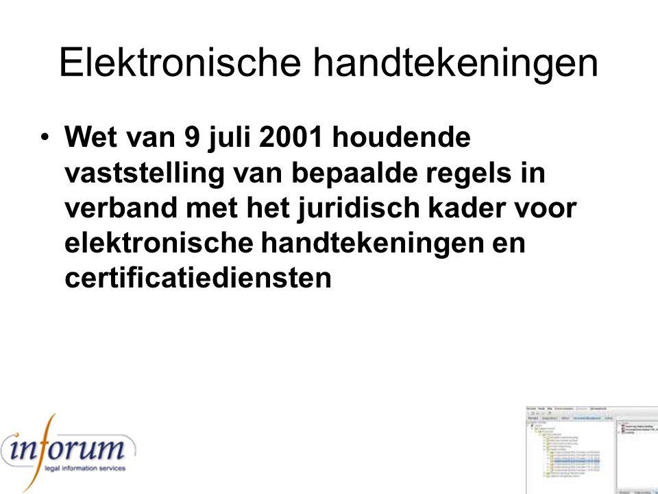 Elektronische handtekeningen
