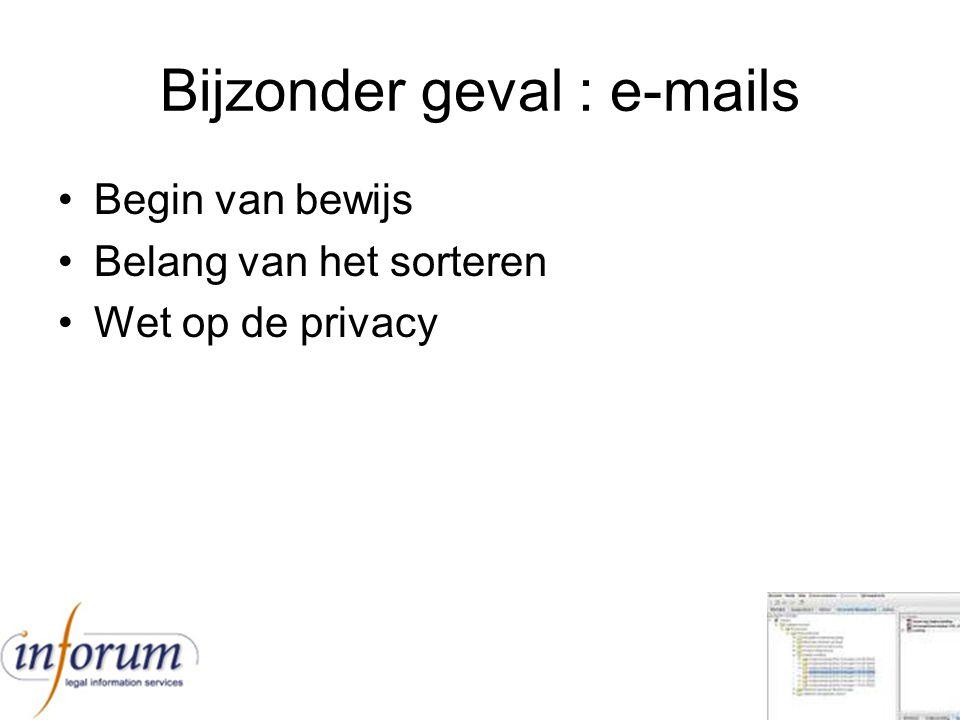 Bijzonder geval : e-mails