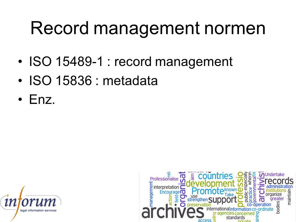 Record management normen