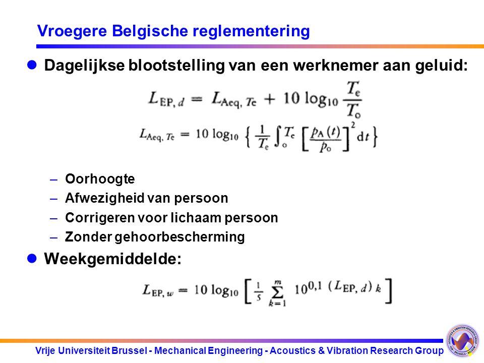 Vroegere Belgische reglementering