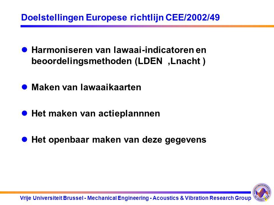 Doelstellingen Europese richtlijn CEE/2002/49