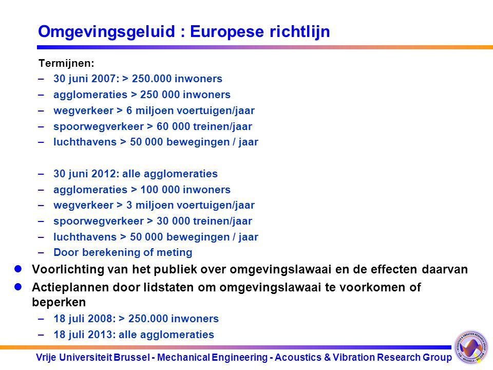 Omgevingsgeluid : Europese richtlijn