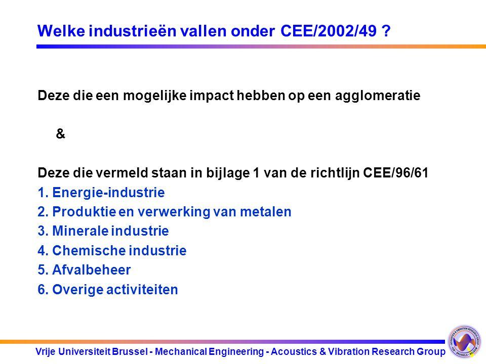Welke industrieën vallen onder CEE/2002/49