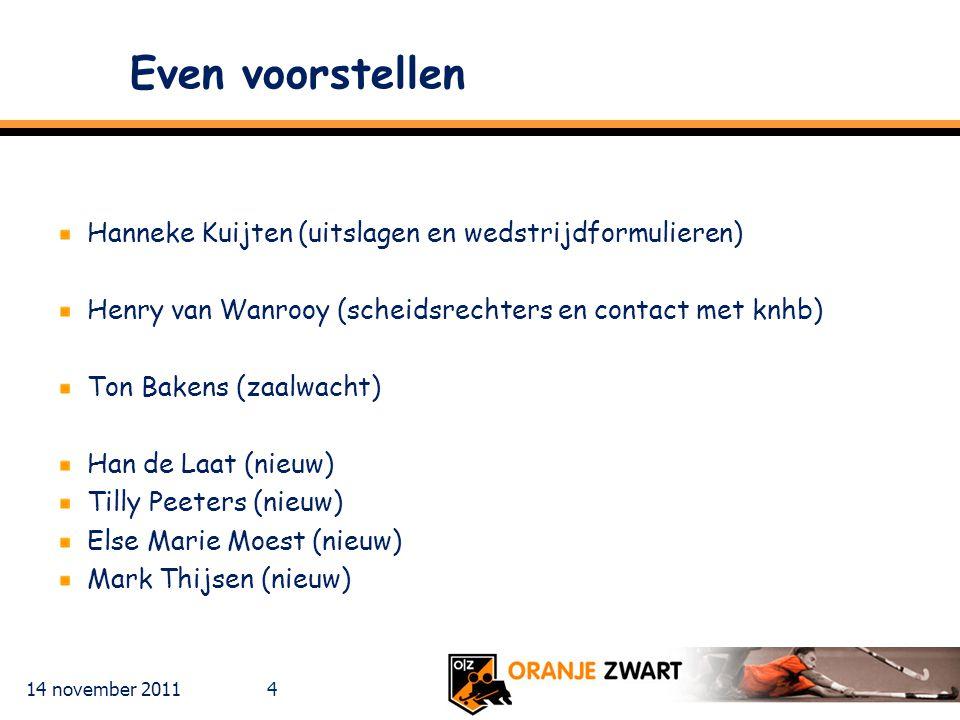 Even voorstellen Hanneke Kuijten (uitslagen en wedstrijdformulieren)