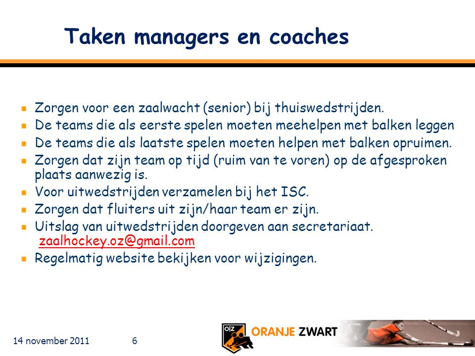 Taken managers en coaches