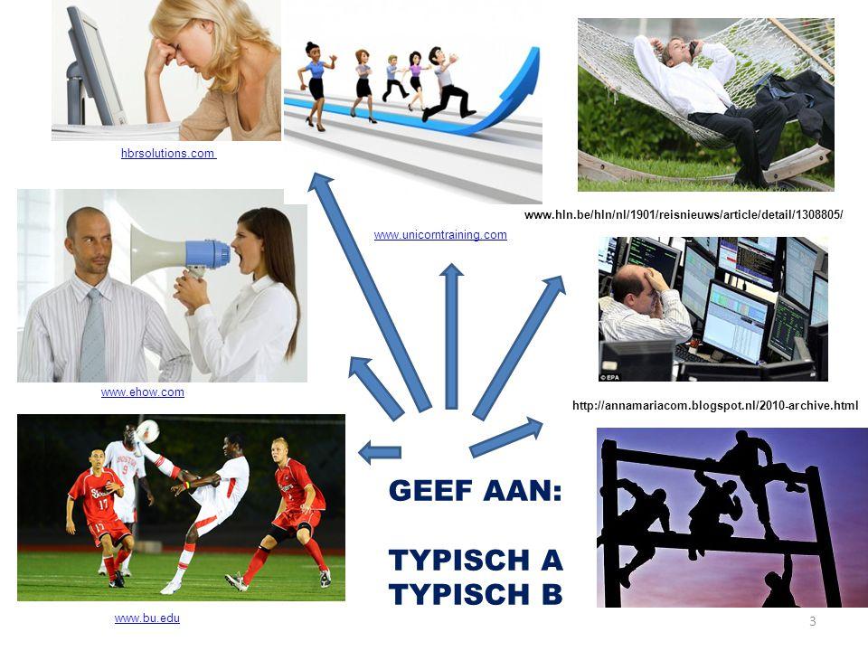 GEEF AAN: TYPISCH A TYPISCH B hbrsolutions.com