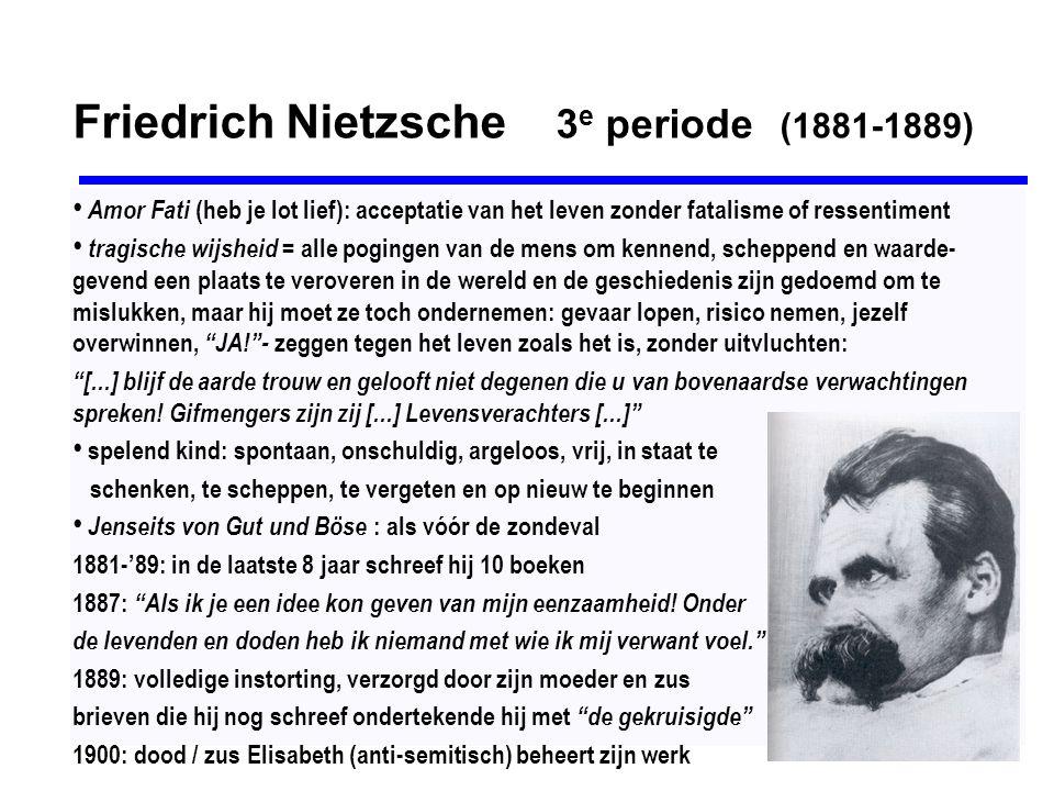 Friedrich Nietzsche 3e periode (1881-1889)