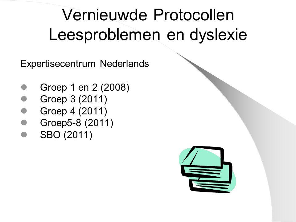 Vernieuwde Protocollen Leesproblemen en dyslexie