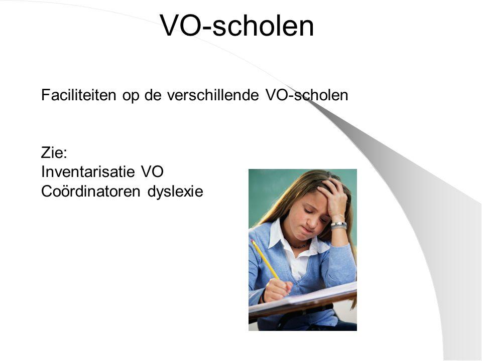 VO-scholen Faciliteiten op de verschillende VO-scholen Zie:
