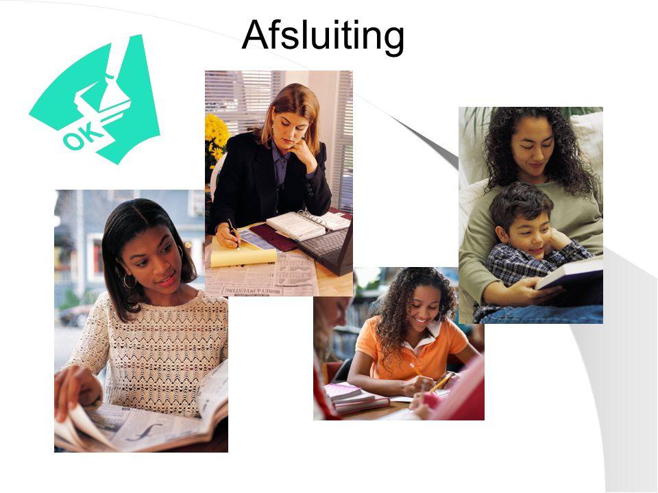 Afsluiting Leerlingen krijgen de juiste hulp op het juiste moment