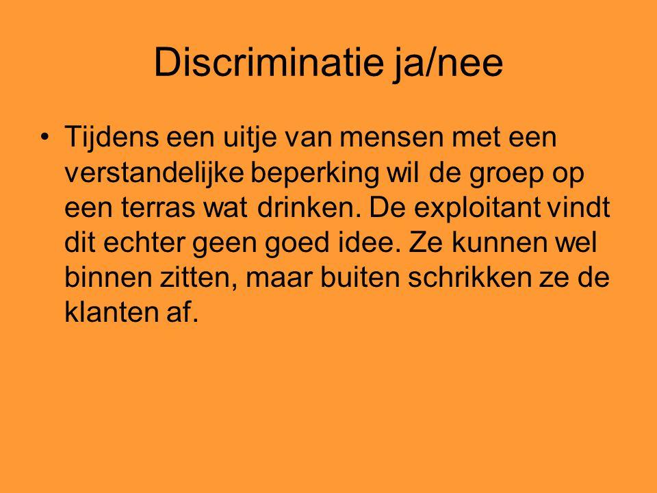 Discriminatie ja/nee
