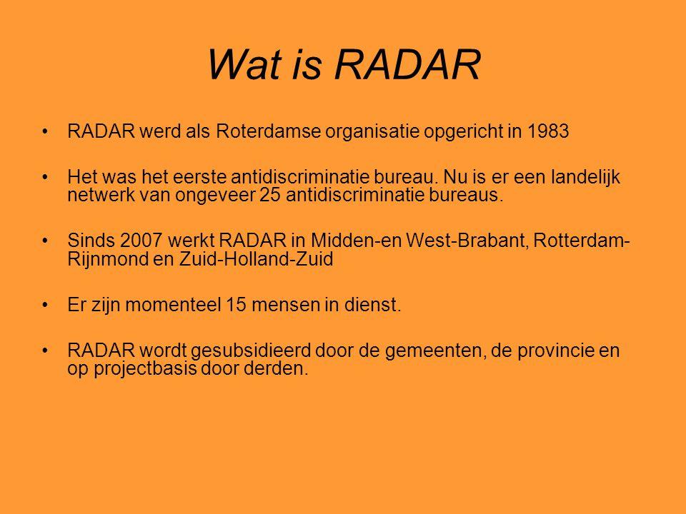 Wat is RADAR RADAR werd als Roterdamse organisatie opgericht in 1983