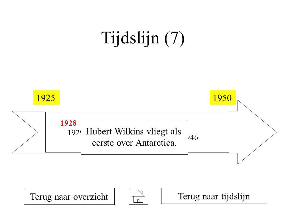 Tijdslijn (7) 1925 1950 Hubert Wilkins vliegt als