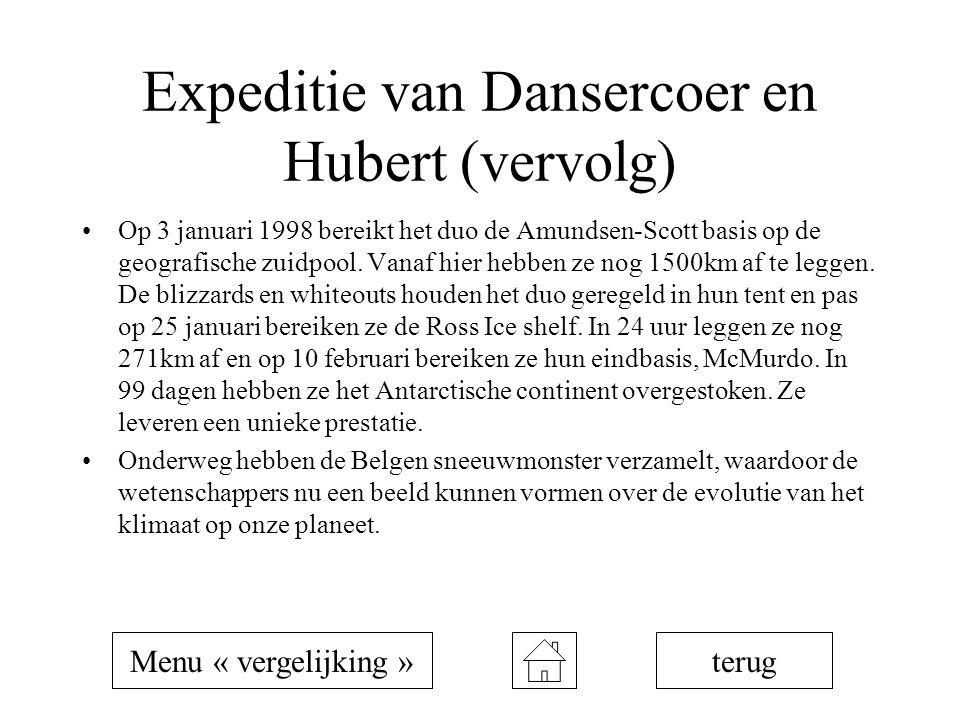 Expeditie van Dansercoer en Hubert (vervolg)