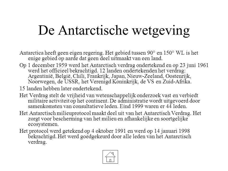 De Antarctische wetgeving