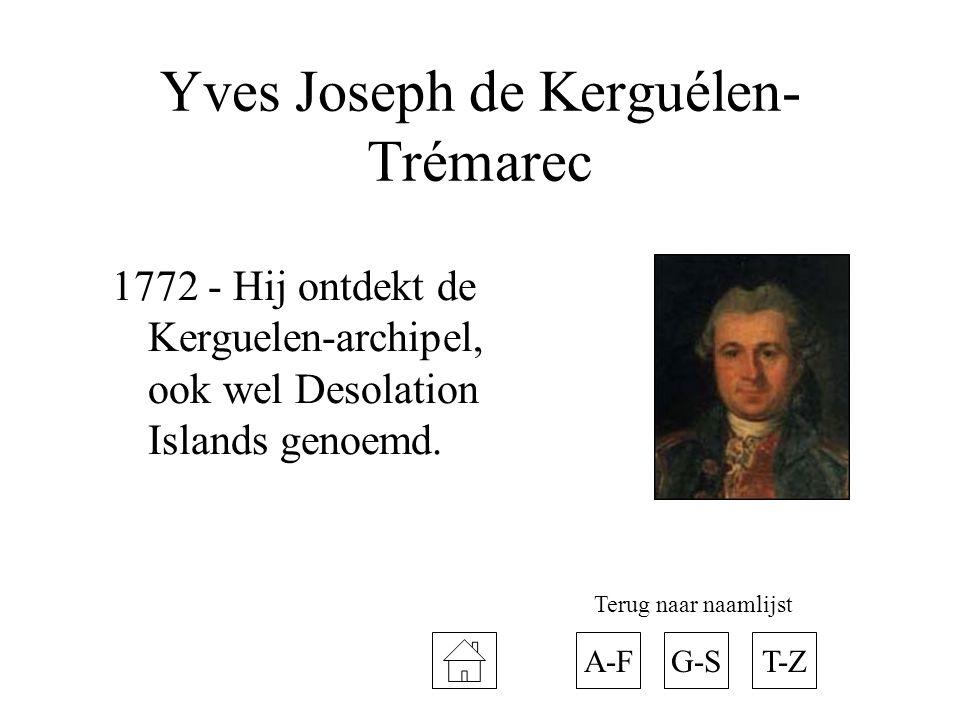 Yves Joseph de Kerguélen-Trémarec