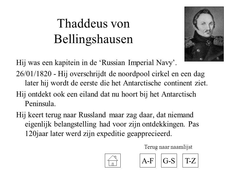 Thaddeus von Bellingshausen