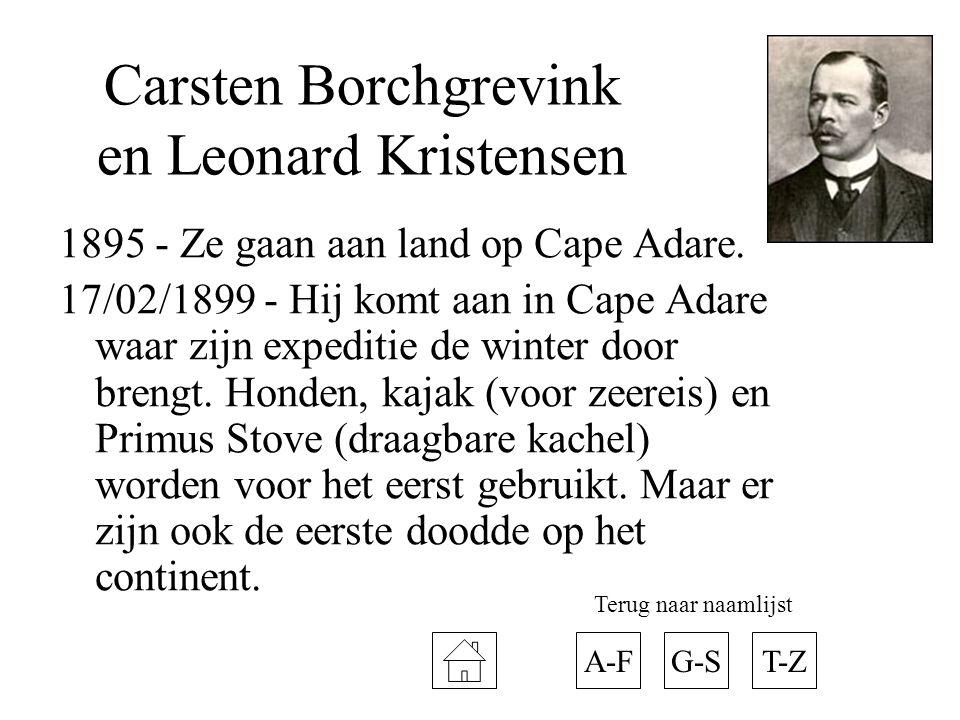 Carsten Borchgrevink en Leonard Kristensen
