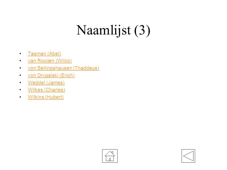 Naamlijst (3) Tasman (Abel) van Rooijen (Wilco)