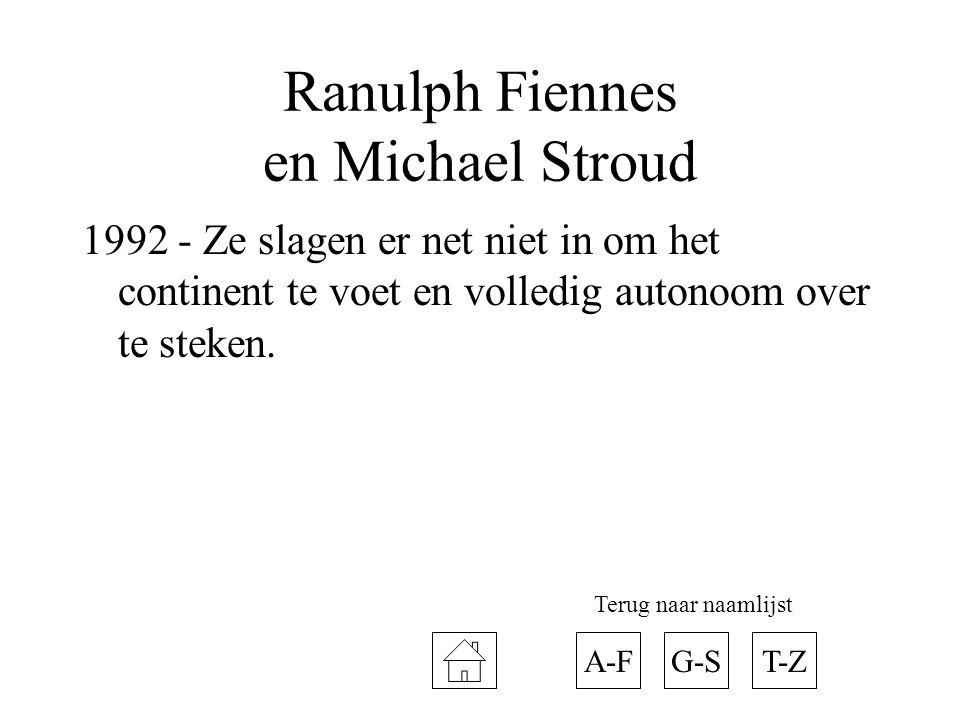 Ranulph Fiennes en Michael Stroud
