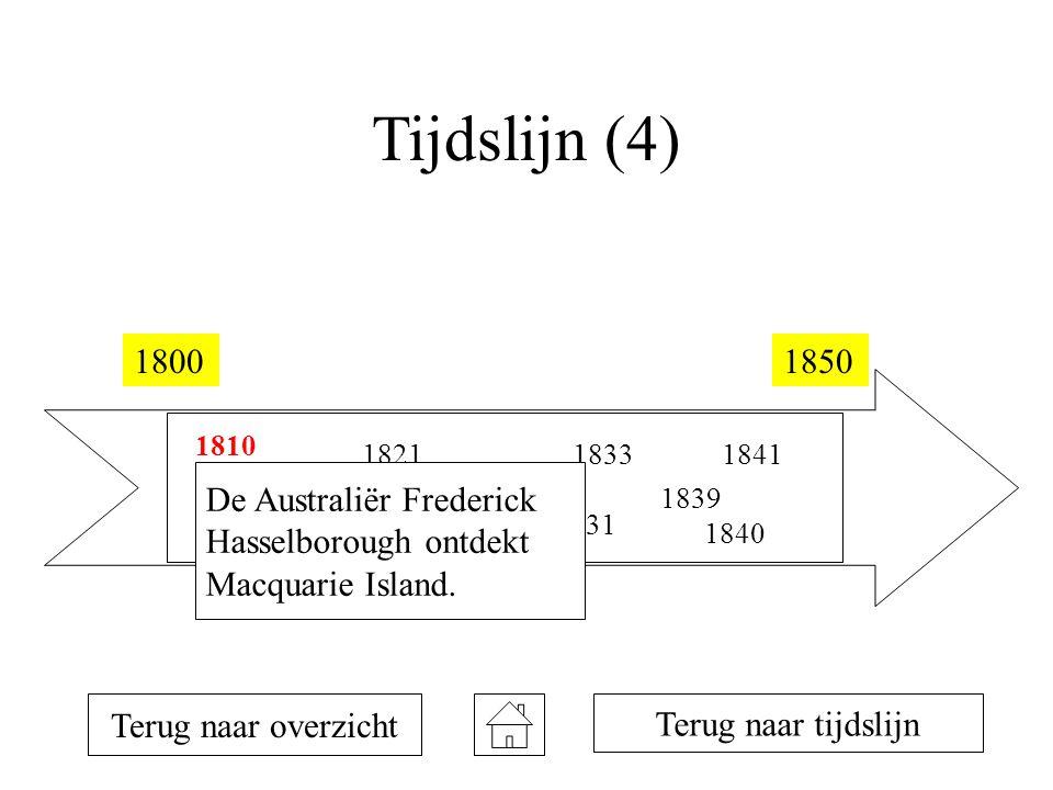 Tijdslijn (4) 1800 1850 De Australiër Frederick Hasselborough ontdekt