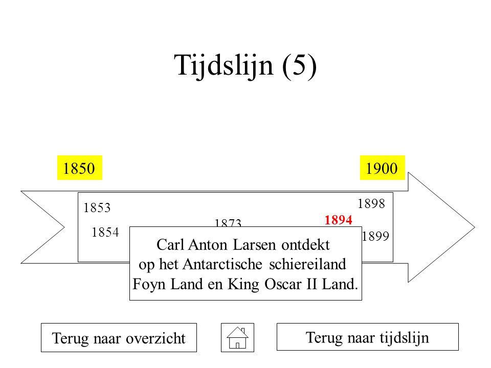 Tijdslijn (5) 1850 1900 Carl Anton Larsen ontdekt