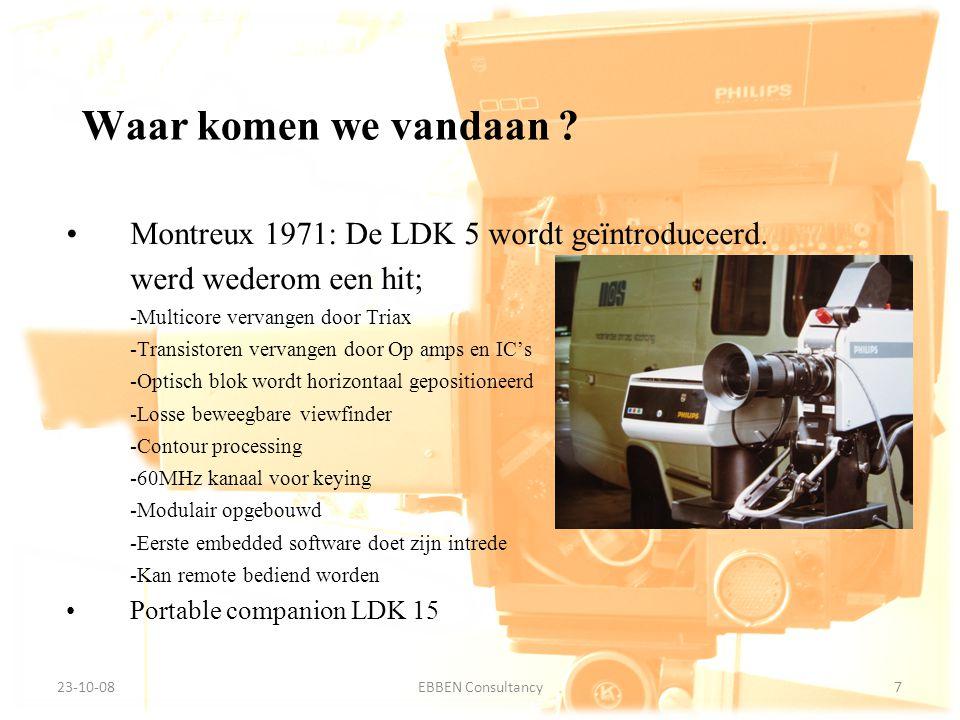 Waar komen we vandaan Montreux 1971: De LDK 5 wordt geïntroduceerd.