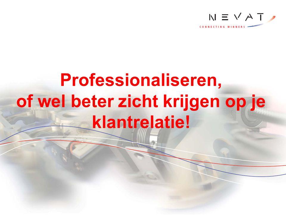 Professionaliseren, of wel beter zicht krijgen op je klantrelatie!