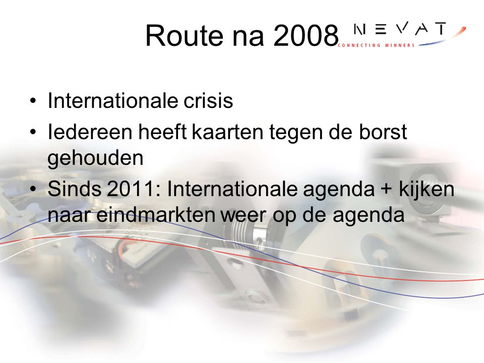 Route na 2008 Internationale crisis