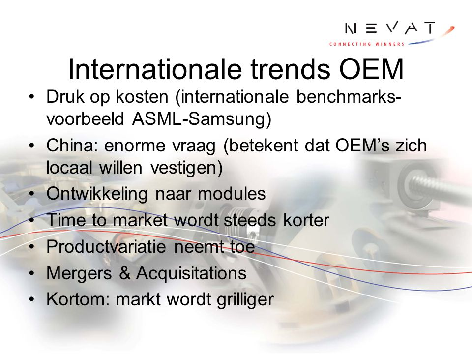 Internationale trends OEM