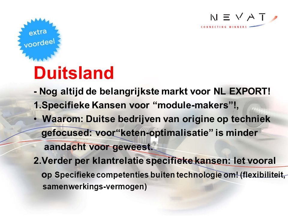 Duitsland - Nog altijd de belangrijkste markt voor NL EXPORT!