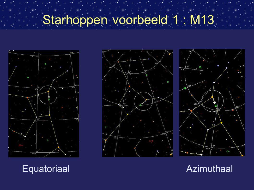 Starhoppen voorbeeld 1 : M13