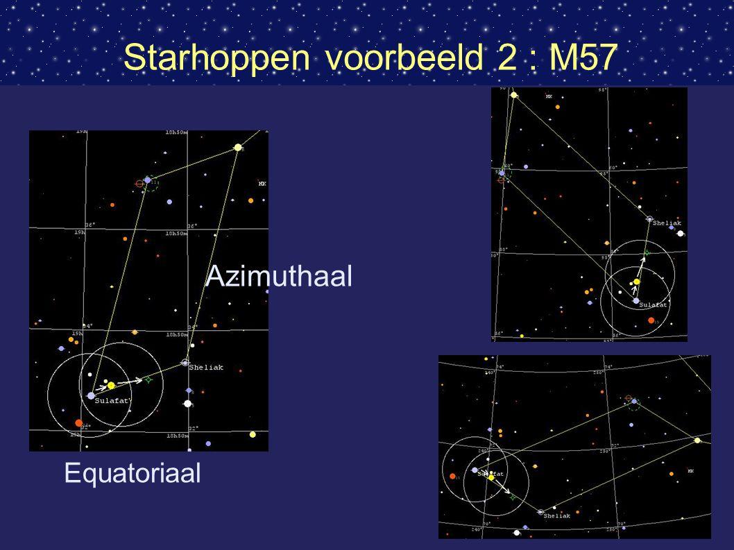 Starhoppen voorbeeld 2 : M57
