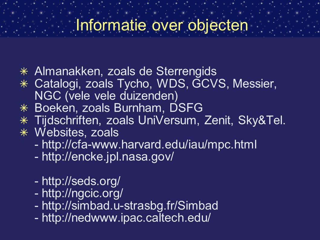 Informatie over objecten