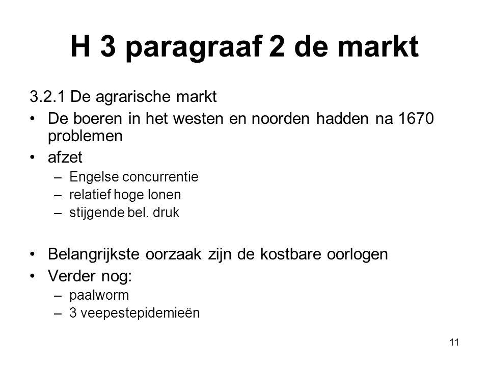 H 3 paragraaf 2 de markt 3.2.1 De agrarische markt