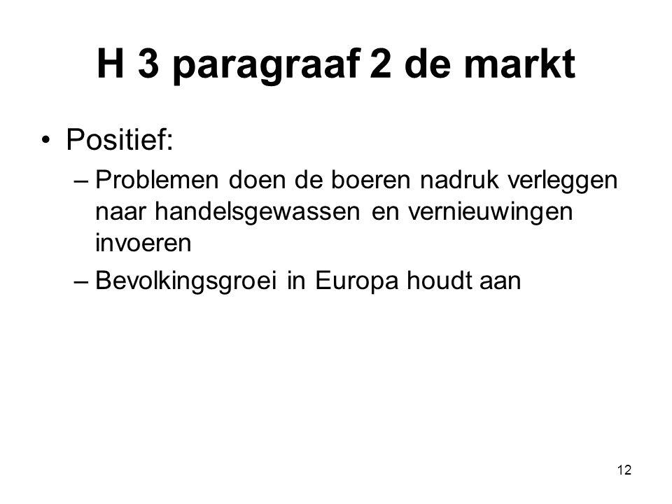 H 3 paragraaf 2 de markt Positief: