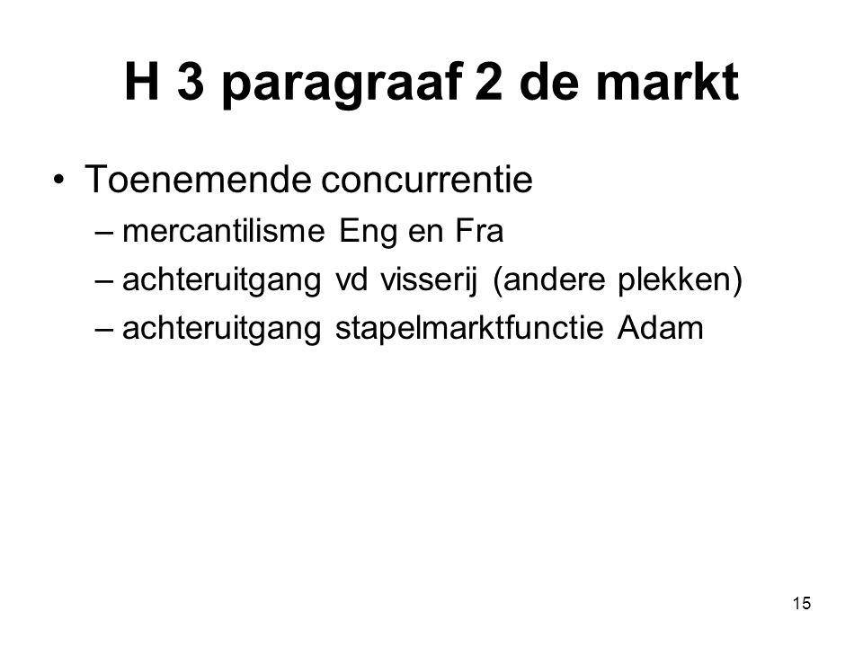 H 3 paragraaf 2 de markt Toenemende concurrentie