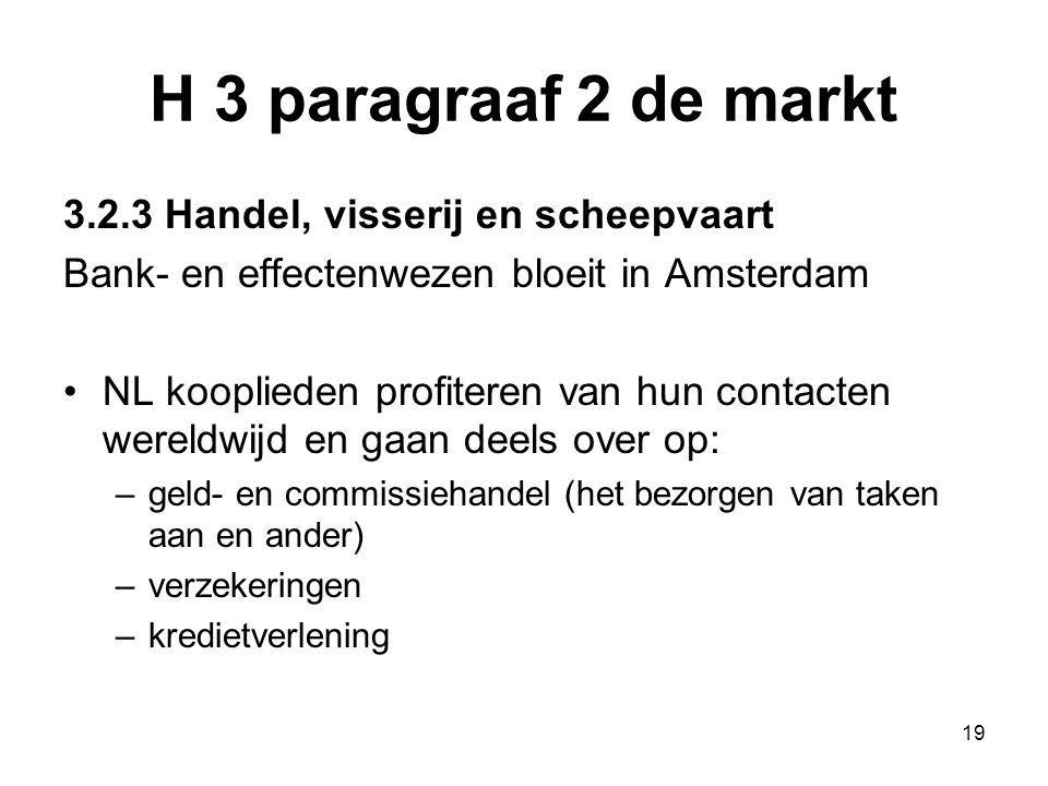 H 3 paragraaf 2 de markt 3.2.3 Handel, visserij en scheepvaart