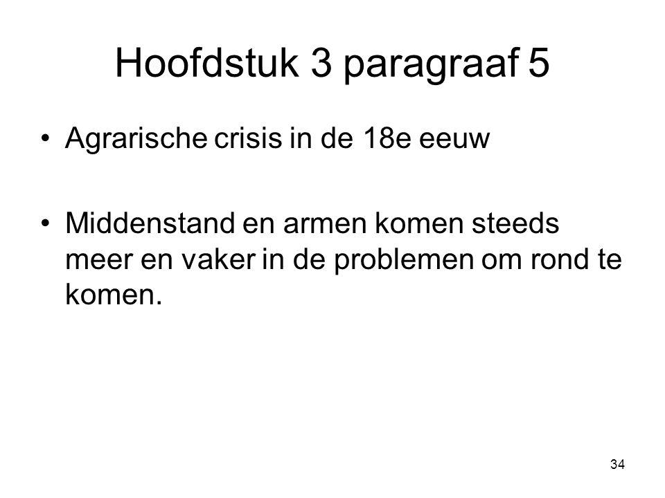 Hoofdstuk 3 paragraaf 5 Agrarische crisis in de 18e eeuw