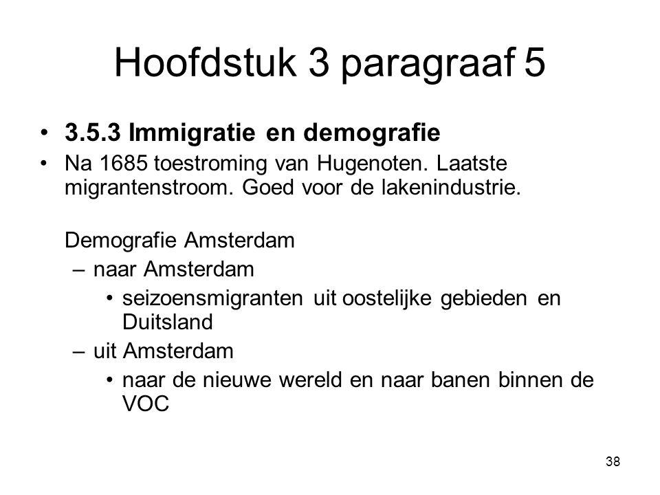 Hoofdstuk 3 paragraaf 5 3.5.3 Immigratie en demografie