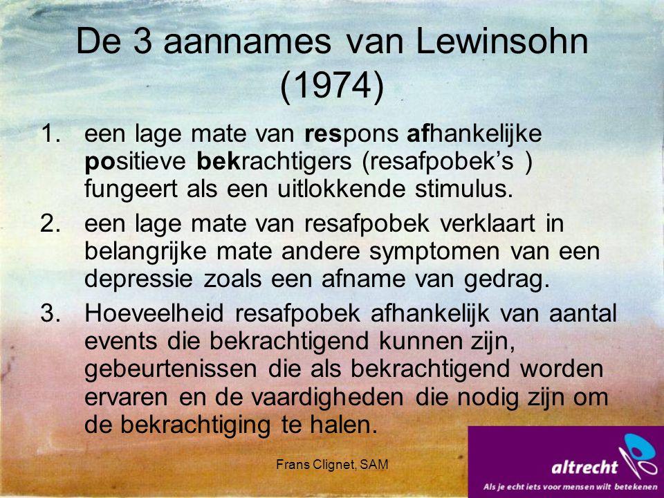 De 3 aannames van Lewinsohn (1974)