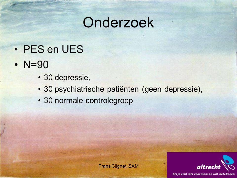 Onderzoek PES en UES N=90 30 depressie,