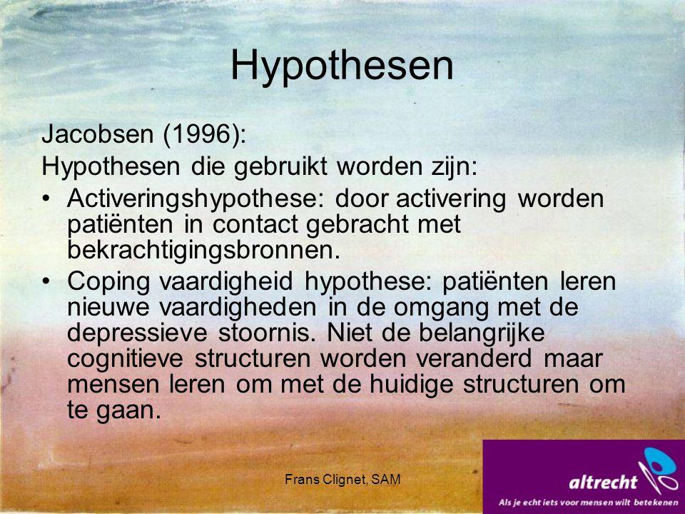 Hypothesen Jacobsen (1996): Hypothesen die gebruikt worden zijn: