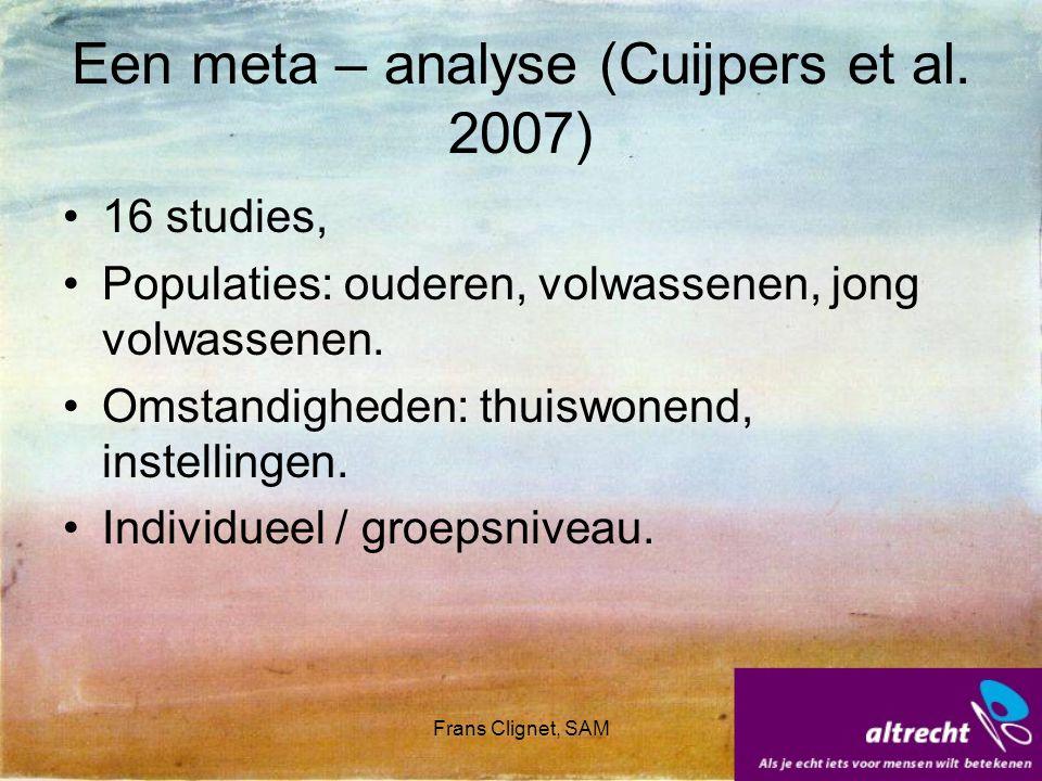 Een meta – analyse (Cuijpers et al. 2007)