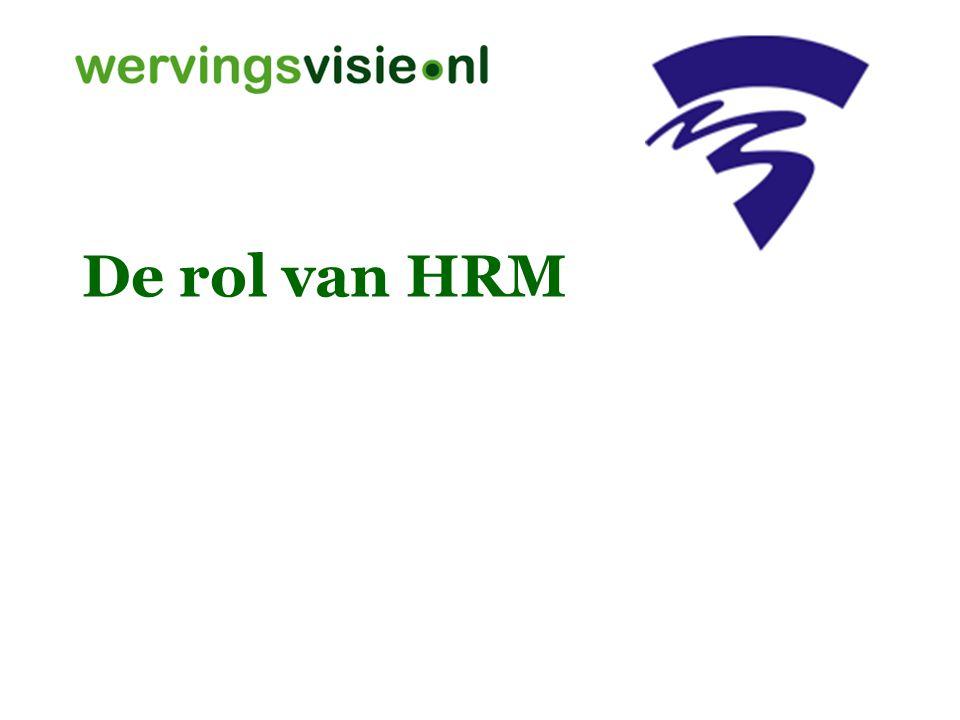 De rol van HRM