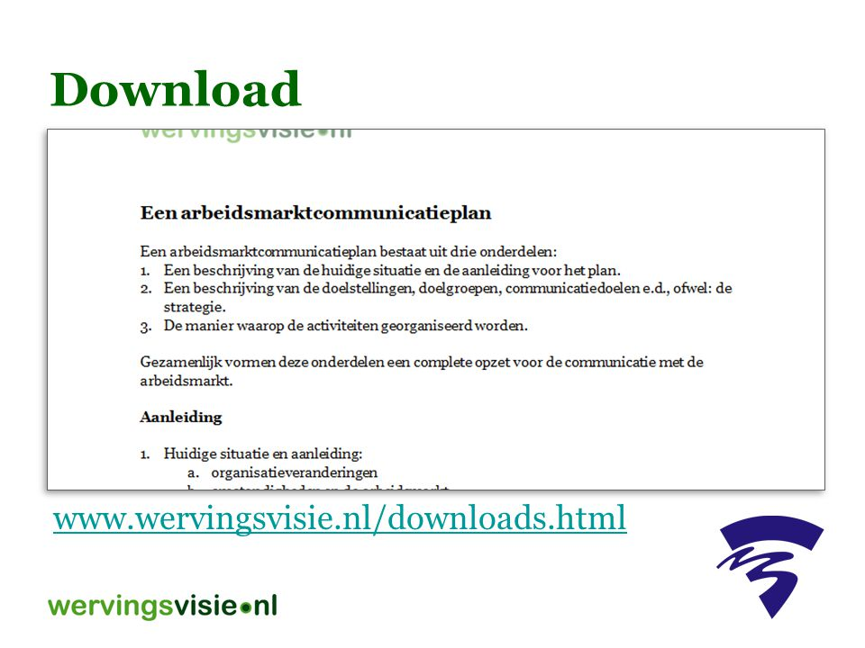 Download www.wervingsvisie.nl/downloads.html