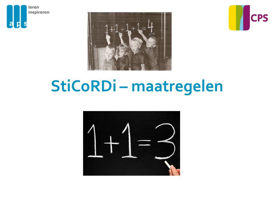 StiCoRDi – maatregelen