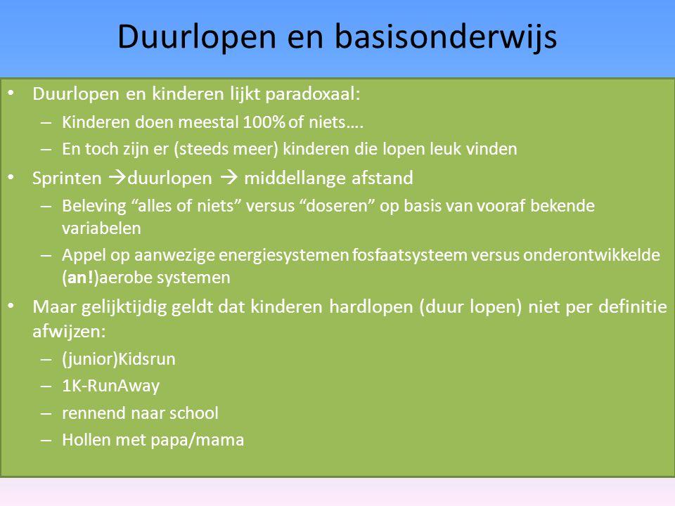 Duurlopen en basisonderwijs
