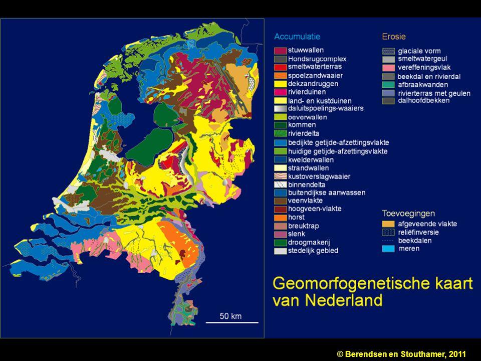 Figuur 4.1 Geomorfogenetische overzichtskaart van Nederland (naar: Wetenschappelijke Atlas van Nederland, deel 13).